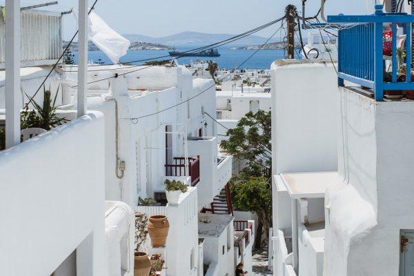 White and Grey Mykonos chora